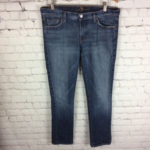 7 For All Mankind Jeans - 7 For All Mankind Roxanne Straight Leg Jeans Sz 31